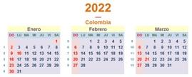 Calendario Colombia 2022